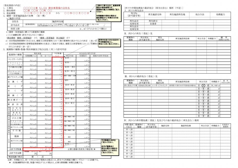 処理 契約 書 廃棄 産業 物 委託